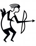 Archery Sticker TB black - outline