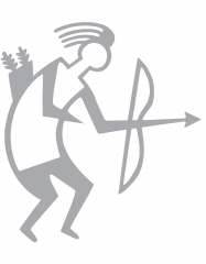 Archery Sticker TB silver outline