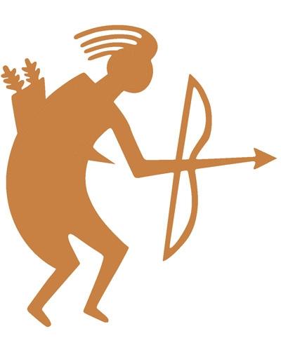 Archery Sticker TB Bronce