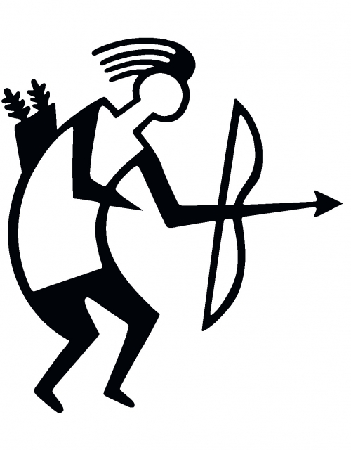 Archery Sticker TB black - outline