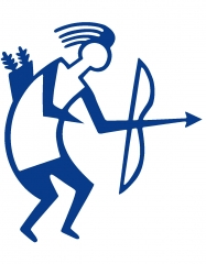 Archery Sticker TB Blue outline