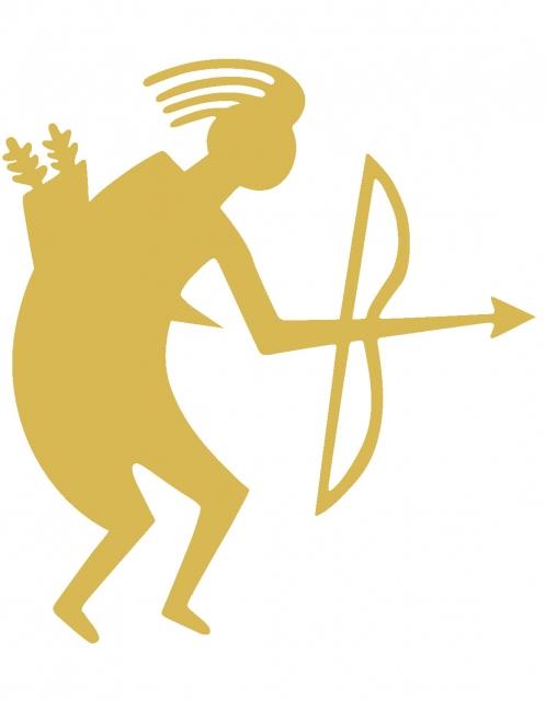Archery Sticker TB Gold filled