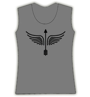 Arrow Angel Top Grey/Black in M